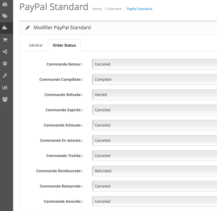 OpenCart Paiement PayPal 2